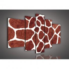 Obraz na plátne viacdielny - OB2407 - Žirafia koža