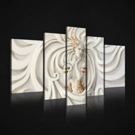 Obraz na plátne viacdielny - OB2410 - 3D abstrakt