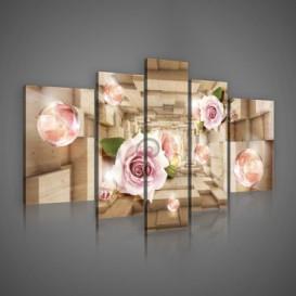 Obraz na plátne viacdielny - OB2420 - Ruže