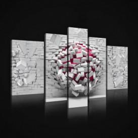 Obraz na plátne viacdielny - OB2423 - 3D guľa