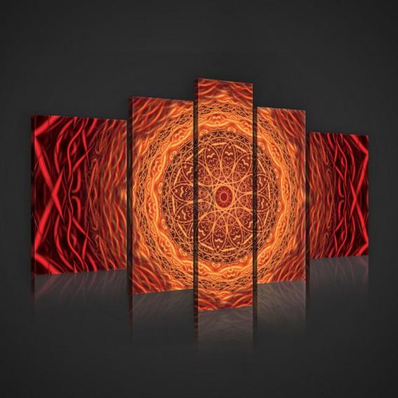 Obraz na plátne viacdielny - OB2432 - Mandala