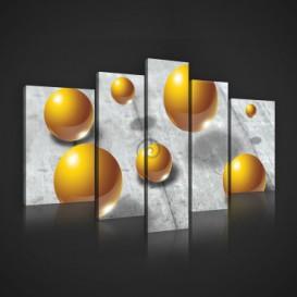 Obraz na plátne viacdielny - OB2435 - 3D gule