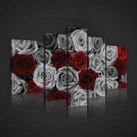 Obraz na plátne viacdielny - OB2438 - Ruže