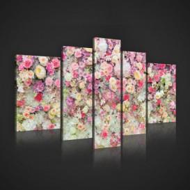 Obraz na plátne viacdielny - OB2439 - Farebné kvety
