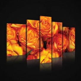Obraz na plátne viacdielny - OB2455 - Oranžové ruže