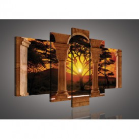 Obraz na plátne viacdielny - OB2486 - Oblúky a západ slnka