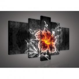 Obraz na plátne viacdielny - OB2496 - Abstraktný kvet