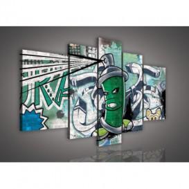 Obraz na plátne viacdielny - OB2504 - Grafit