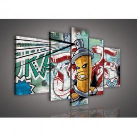 Obraz na plátne viacdielny - OB2507 - Grafit