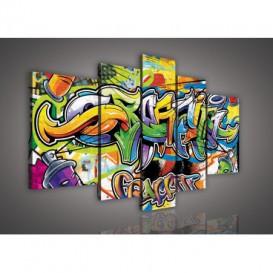 Obraz na plátne viacdielny - OB2509 - Grafity