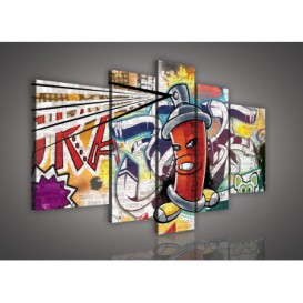 Obraz na plátne viacdielny - OB2519 - Grafit