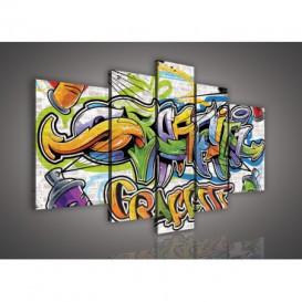 Obraz na plátne viacdielny - OB2521 - Grafity