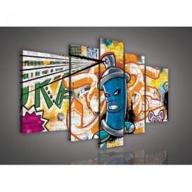Obraz na plátne viacdielny - OB2522 - Grafit