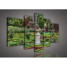 Obraz na plátne viacdielny - OB2534 - Záhrada kvetov