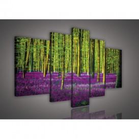 Obraz na plátne viacdielny - OB2542 - Fialový les