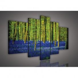 Obraz na plátne viacdielny - OB2543 - Modrý les