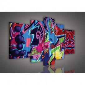 Obraz na plátne viacdielny - OB2551 - Grafity