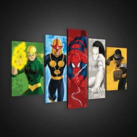 Obraz na plátne viacdielny - OB2567 - Marvel hrdinovia