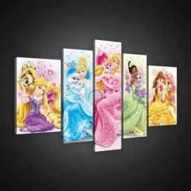 Obraz na plátne viacdielny - OB2569 - Disney Princezné