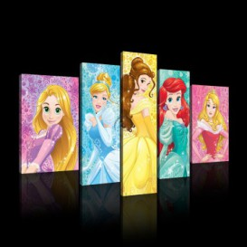 Obraz na plátne viacdielny - OB2570 - Disney Princezné