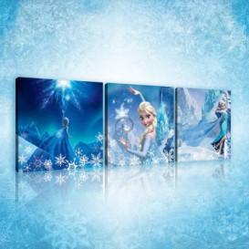 Obraz na plátne viacdielny - OB2576 - Ľadové kráľovstvo Elsa