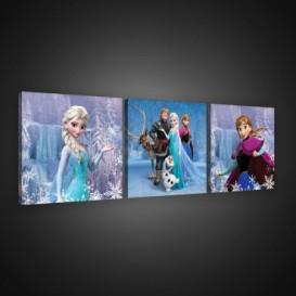 Obraz na plátne viacdielny - OB2577 - Ľadové kráľovstvo Elsa a Anna