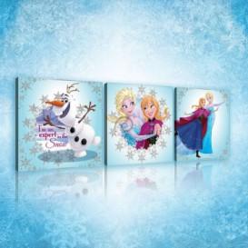Obraz na plátne viacdielny - OB2578 - Ľadové kráľovstvo Elsa a Anna