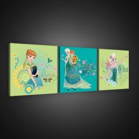 Obraz na plátne viacdielny - OB2579 - Ľadové kráľovstvo Elsa a Anna