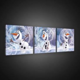 Obraz na plátne viacdielny - OB2580 - Ľadové kráľovstvo Olaf