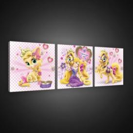 Obraz na plátne viacdielny - OB2583 - Princezné a maznáčikovia Rapunzel
