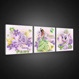 Obraz na plátne viacdielny - OB2584 - Princezné a maznáčikovia Tiana