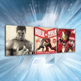 Obraz na plátne viacdielny - OB2611 - Avengers Hulk