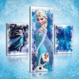 Obraz na plátne viacdielny - OB2661 - Ľadové kráľovstvo Elsa