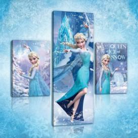 Obraz na plátne viacdielny - OB2662 - Ľadové kráľovstvo Elsa