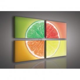 Obraz na plátne viacdielny - OB2667 - Pomaranče a limetky