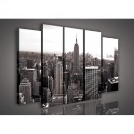 Obraz na plátne viacdielny - OB2706 - Čierno biely New York
