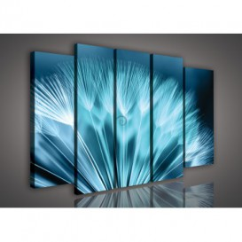 Obraz na plátne viacdielny - OB2717 - Púpava modrá