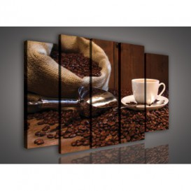Obraz na plátne viacdielny - OB2718 - Káva