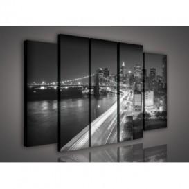 Obraz na plátne viacdielny - OB2745 - New York čierno biely