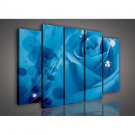 Obraz na plátne viacdielny - OB2782 - Modrá ruža