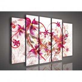 Obraz na plátne viacdielny - OB2797 - Kreslené kvety