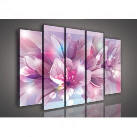 Obraz na plátne viacdielny - OB2803 - Ružové kvety