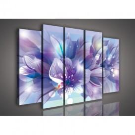 Obraz na plátne viacdielny - OB2805 - Modré kvety