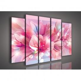 Obraz na plátne viacdielny - OB2822 - Ružové kvety