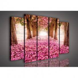 Obraz na plátne viacdielny - OB2835 - Ružový les