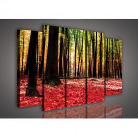 Obraz na plátne viacdielny - OB2840 - Ružový les