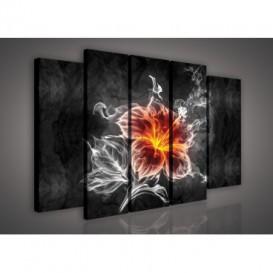 Obraz na plátne viacdielny - OB2847 - Abstraktný kvet