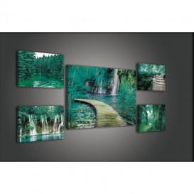 Obraz na plátne viacdielny - OB2927 - Zelený les