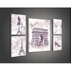 Obraz na plátne viacdielny - OB2930 - Paríž