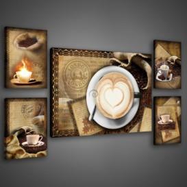 Obraz na plátne viacdielny - OB2936 - Espresso